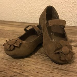 Children's Place Toddler Brown Faux Suede Flats